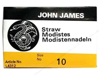 John James Hand Sharp Needles: John James Needle Milliners/Straw 25 pc Size 10 (2 packages)