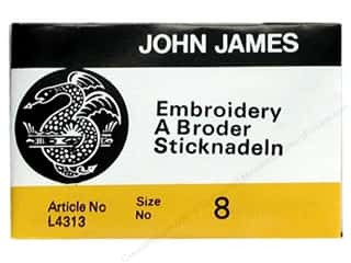 John James Needle Crewel/Embroidery 25 pc Size 8 (2 packages)