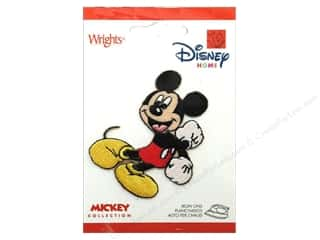 Mickey: Wrights Appliques Disney Iron On Mickey Mouse
