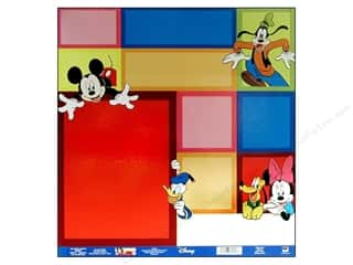 "Borders Height: EK Paper 12""x 12"" Bulk Disney Mickey Color Block (25 sheets)"