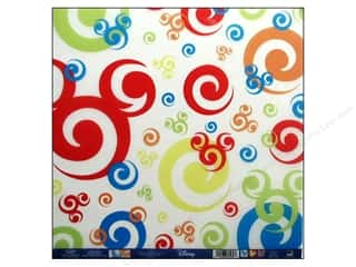 EK Paper 12x12 Disney Mickey Vellum Swirls (25 sheets)