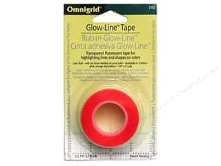 Omnigrid Glow-Line Tape 1/4&quot;x7&#39; Pink/Orang/Yelow