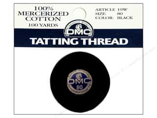 Tatting DMC Brilliant Tatting Cotton Size 80: DMC Tatting Cotton Size 80 Black