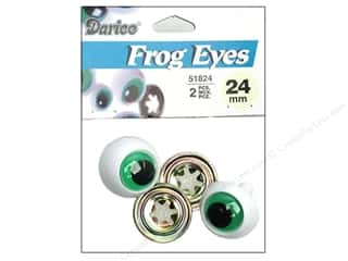 Darice Eyes Frog 24mm w/Washer Green 2pc (3 packages)