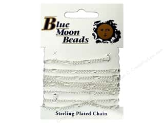 "Blue Moon Chain 42"" Figaro Silver"