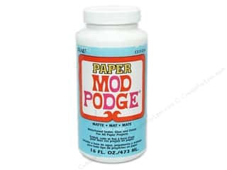 Glues/Adhesives: Plaid Mod Podge Paper Matte Acid Free 16 oz