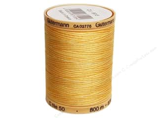 Gutermann Cotton Thread: Gutermann Machine Quilting Thread 875 yd. #9918 Variegated Sunrise Yellow