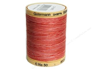 Gutermann Cotton Thread: Gutermann Machine Quilting Thread 875 yd. #9973 Variegated Ruby Red