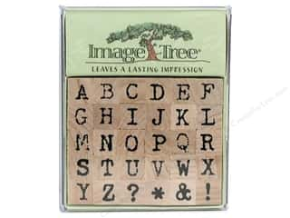 EK Image Tree Rubber Stamp Set Antq Typwrtr Ltr