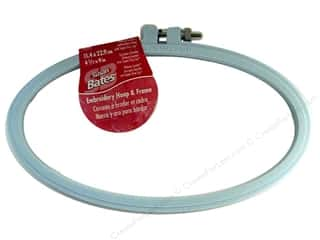 "Bates Embroidery Hoops Luxite Blue 4""x 9"""