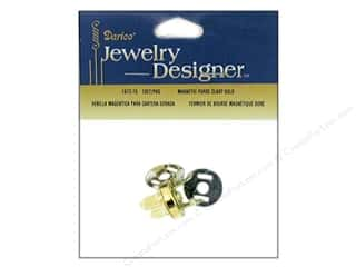 Handles: Darice Jewelry Designer Findings Purse Magnetic Clasp Set Gold