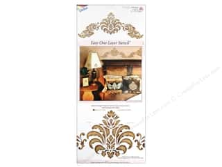 Stretch Magic $2 - $3: Delta Stencil Magic Accents 8 1/2 x 18 in. Baroque Flourish