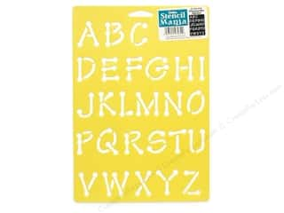 School Length: Delta Alphabet Stencil Mania 7 x 10 in. Whimsical Dot