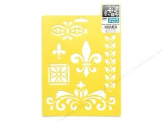 Stencils $6 - $7: Delta Stencil Mania 7 x 10 in. Decor Accents