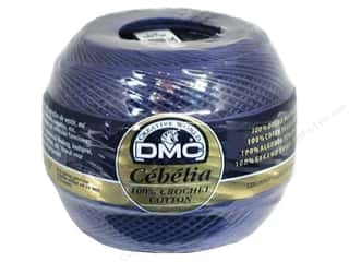 lace yarn: DMC Cebelia Crochet Cotton Size 10 #797 Royal Blue