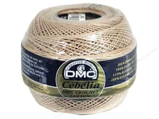 lace yarn: DMC Cebelia Crochet Cotton Size 10 #842 Coffee Cream