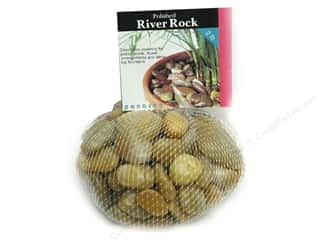 Panacea Decorative Accents River Rock Yellow 2lb Bag