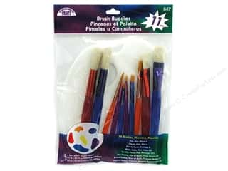 Fabric $0 - $10: Loew Cornell Brush Set Contemporary Crafts Brush Buddies 11pc