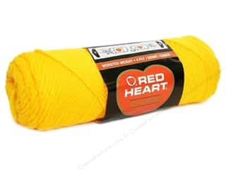 Bumpy Yarn: Red Heart Classic Yarn 4ply Yellow