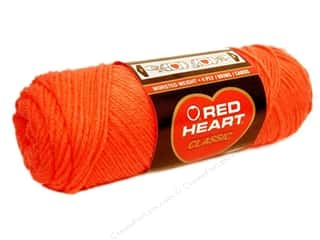 fingering yarn: Red Heart Classic Yarn 4ply Tangerine