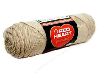 Yarn, Knitting, Crochet & Plastic Canvas: Red Heart Classic Yarn 4ply Tan