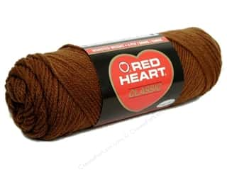 Yarn, Knitting, Crochet & Plastic Canvas Medium Weight: Red Heart Classic Yarn 4ply  Medium Brown