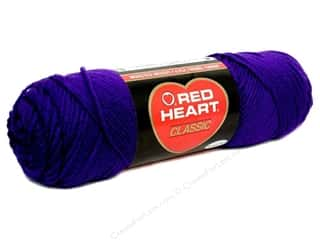 Yarn $4 - $5: Red Heart Classic Yarn 4ply Purple