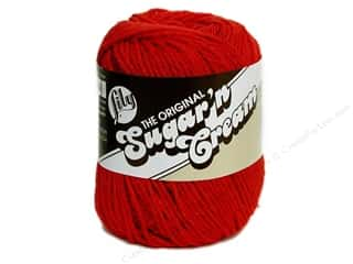 Yarn, Knitting, Crochet & Plastic Canvas Sugar'n Cream Yarn 2 oz: Lily Sugar 'n Cream Yarn  2.5 oz. #95 Red