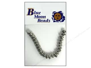 Metal Beading & Jewelry Making Supplies: Blue Moon Beads Metal Spacer Beads 24 pc. Silver Roundel