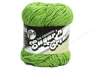 cotton yarn: Lily Sugar 'n Cream Yarn  2.5 oz. Hot Green