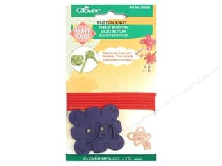 Cording Flowers: Clover Asian Knot Template Button