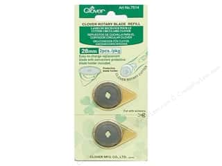Stock Up Sale Rotary Blades: Clover Rotary Cutter Blade Refill 28 mm 2 pc.