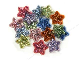 Jesse James Embellishments Button Fun Glitter Stars