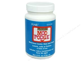 Finishes Glues, Adhesives & Tapes: Plaid Mod Podge Fabric 8 oz.
