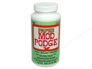 Glues/Adhesives: Plaid Mod Podge Paper Gloss Acid Free 16 oz
