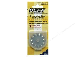 Rotary Cutting Olfa Rotary Cutter: Olfa Rotary Cutter Replacement Blade 45mm Decorative Scallop