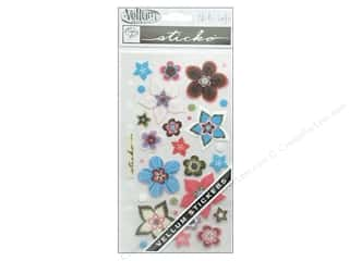 EK Sticko Stickers Vellum Retro Flower Works