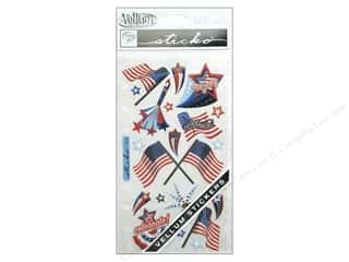 Independence Day EK Sticko Stickers: EK Sticko Stickers Vellum 4th Of July