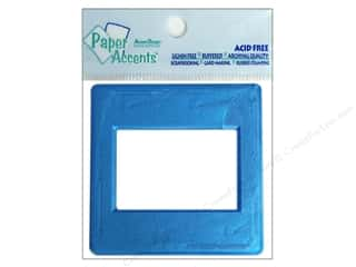 Memory & Paper Craft Frames: Paper Accents Slide Frame 5pc Metallic Blue