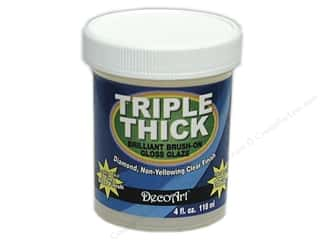 Art, School & Office Office: DecoArt Triple Thick Gloss Glaze 4 oz. Jar