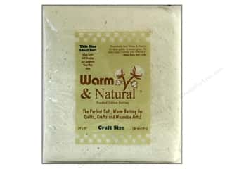 Eco Friendly /Green Products 11 Yards: The Warm Company Warm and Natural Cotton Batting Craft 34 x 45 in.