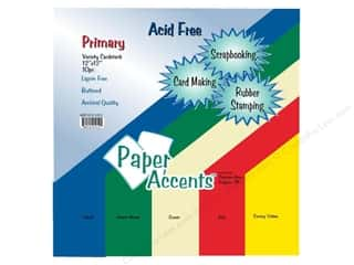 School Height: Cardstock Variety Pack 12 x 12 in. Primary 10 pc. by Paper Accents