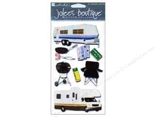 Clearance Blumenthal Favorite Findings: Jolee's Boutique Stickers Large RV Campers