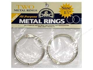 "DMC metal craft rings: DMC Metal Craft Rings 1.5"" 2 pc"