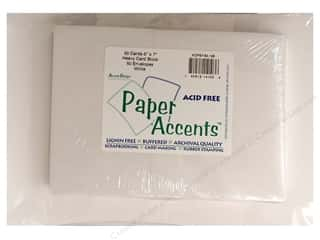 Paper Accents Card&Env 5x7 White 50pc