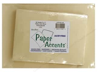 Paper Accents: 5 x 7 in. Blank Card & Envelopes 50pc. Ivory