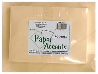 Paper Accents: 5 x 7 in. Blank Card & Envelopes 50pc. Cream