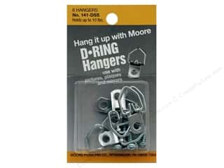 "1 3/16"" D rings: Moore D Ring Small 1 Screw 6 pc"