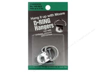 "1 3/16"" D rings: Moore D Ring Large 1 Screw 2 pc"