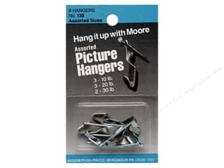 Moore Picture Hangers Assorted with Nails 8pc
